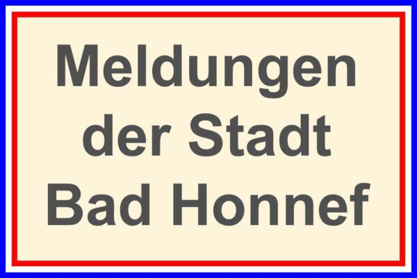 Meldungen der Stadt Bad Honnef