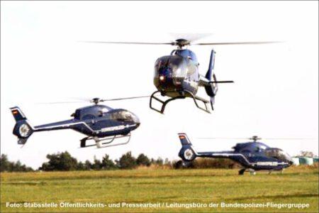 Helikopter Flugschule Bundespolizei Eudenbach