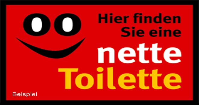 Nette Toilette auch in Bad Honnef