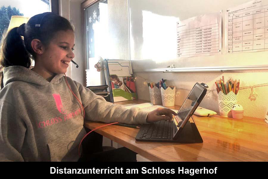 Distanzunterricht am Schloss Hagerhof