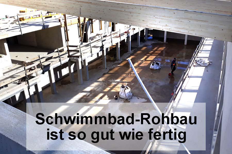 Schwimmbad-Rohbau in Aegidienberg ist so gut wie fertig