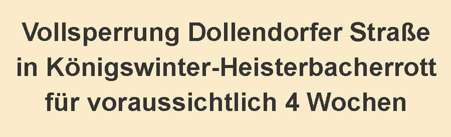 Vollsperrung Heisterbacherrott